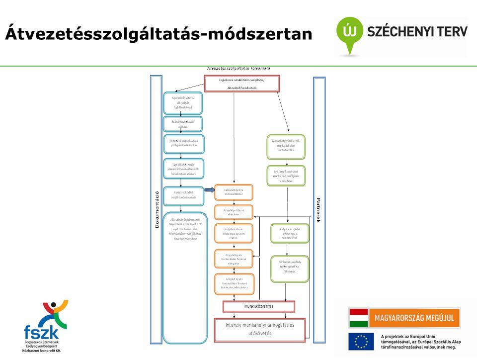 A módszertan kialakításában résztvevő szervezetek: Regionális Szociális Forrásközpont Nonprofit Kft.- Szombathely Salva Vita Alapítvány – Budapest További szakértők: Vécsey Adrienne korábban nyertes A2-es akkreditált foglalkoztatók képviselői tesztelésben résztvevő akkreditált és szolgáltató szervezetek Átvezetésszolgáltatás-módszertan