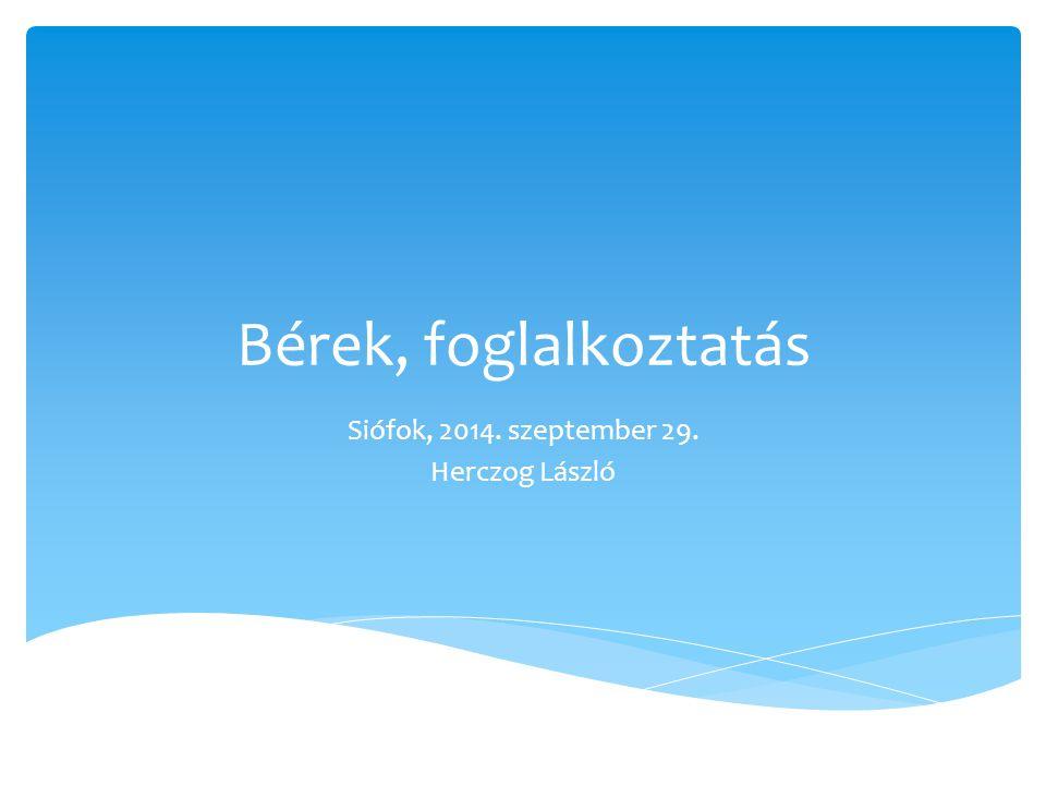 Bérek, foglalkoztatás Siófok, 2014. szeptember 29. Herczog László