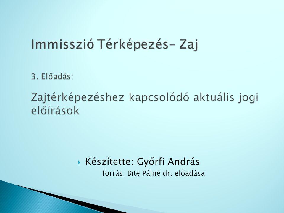 Az előadás tartalma 284/2007.(X.29) Korm.