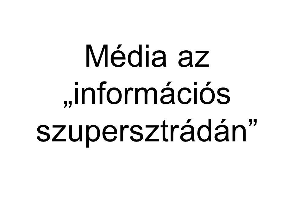 """Média az """"információs szupersztrádán"""