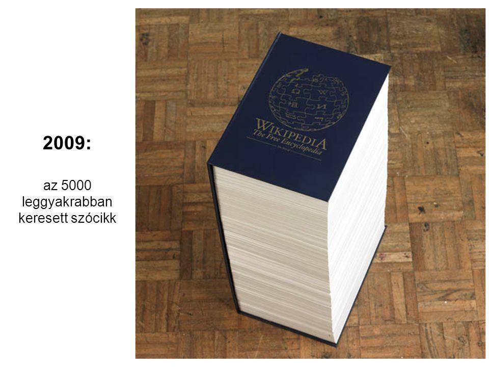 2009: az 5000 leggyakrabban keresett szócikk