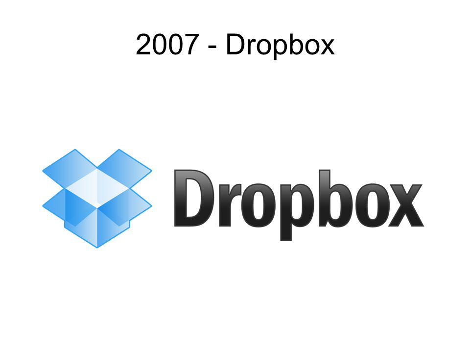 2007 - Dropbox