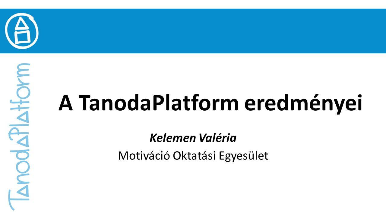 Köszönöm a figyelmet! tanodaplatform@gmail.com www.tanodaplatform.hu