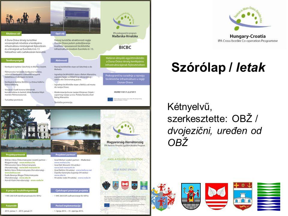 Szórólap / letak Kétnyelvű, szerkesztette: OBŽ / dvojezični, uređen od OBŽ