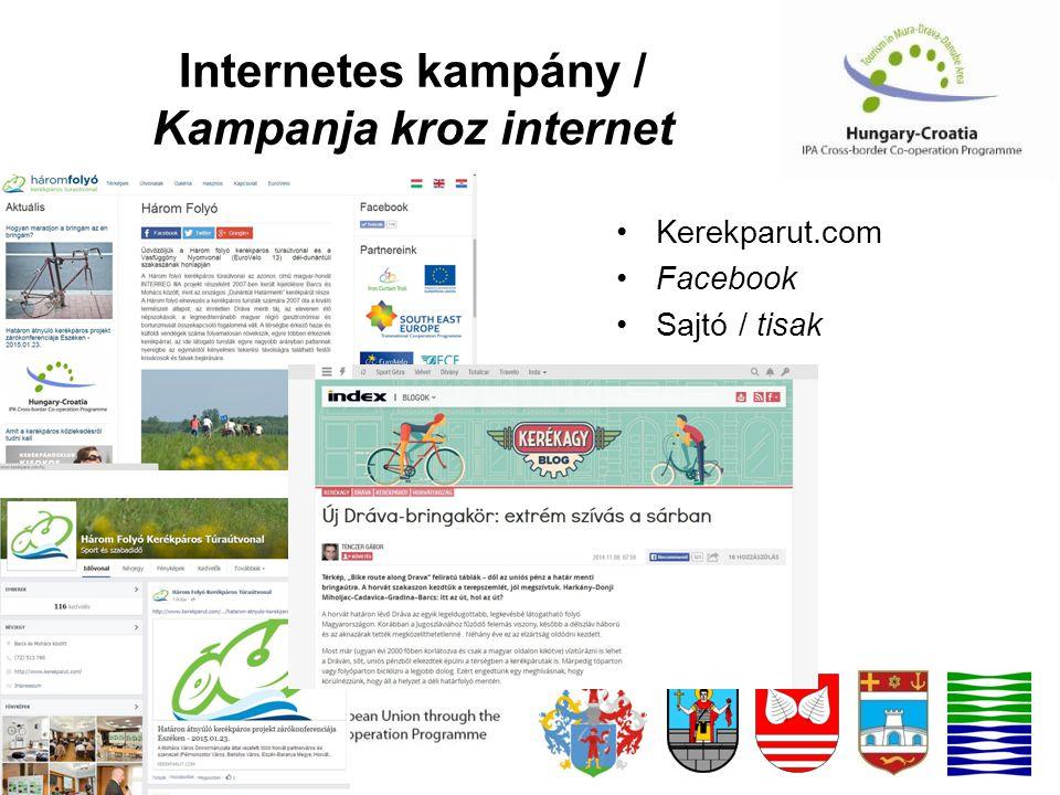 Internetes kampány / Kampanja kroz internet Kerekparut.com Facebook Sajtó / tisak