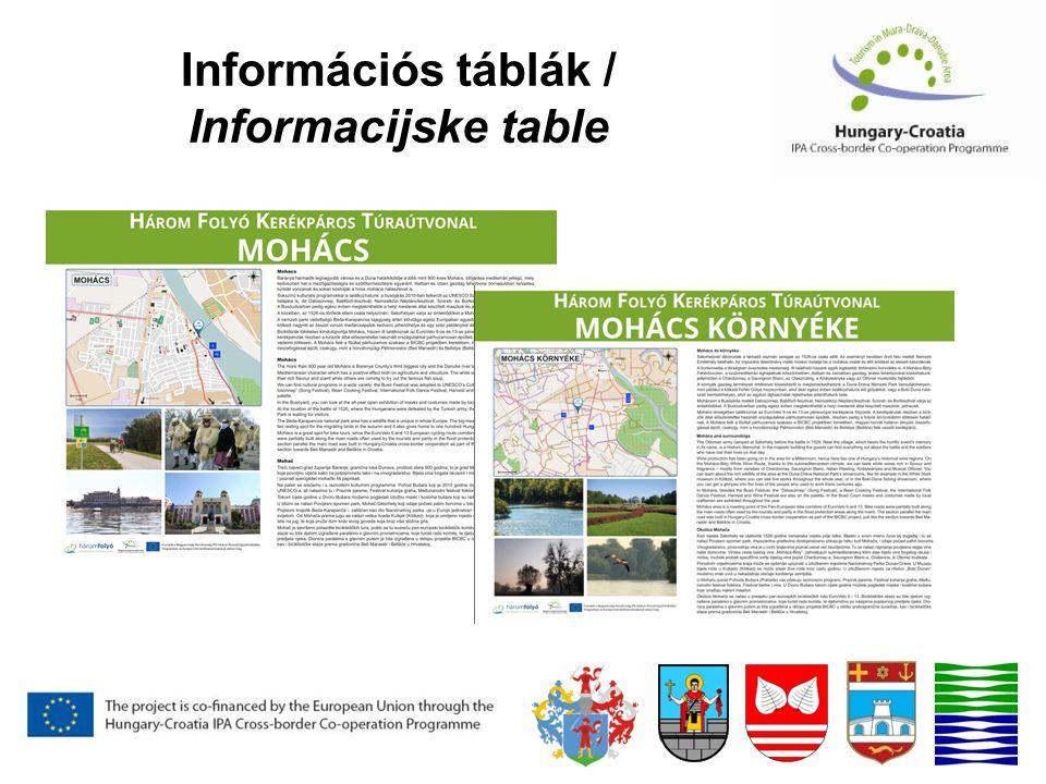 Információs táblák / Informacijske table