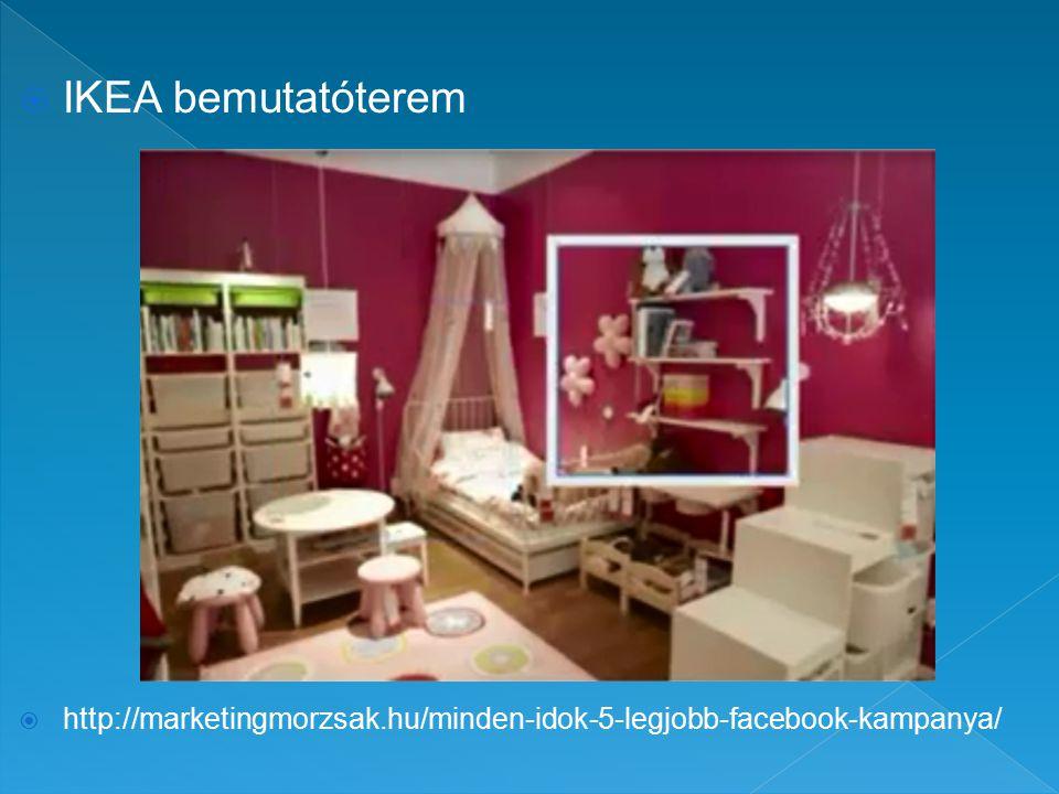  IKEA bemutatóterem  http://marketingmorzsak.hu/minden-idok-5-legjobb-facebook-kampanya/