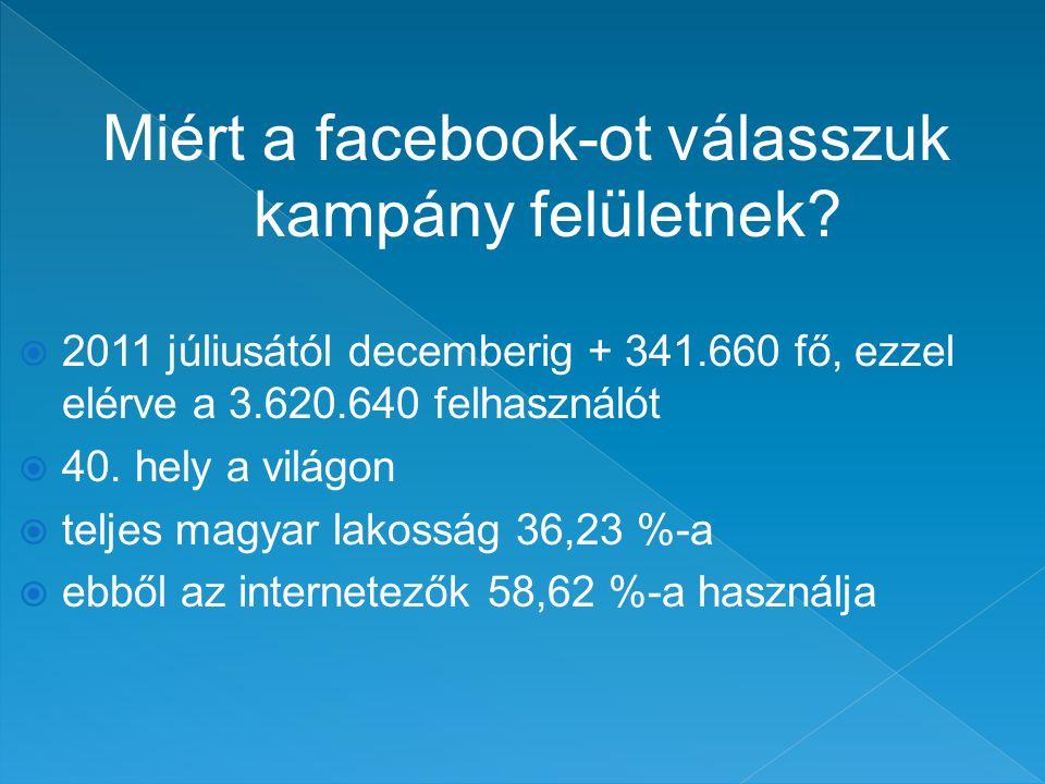 Miért a facebook-ot válasszuk kampány felületnek.