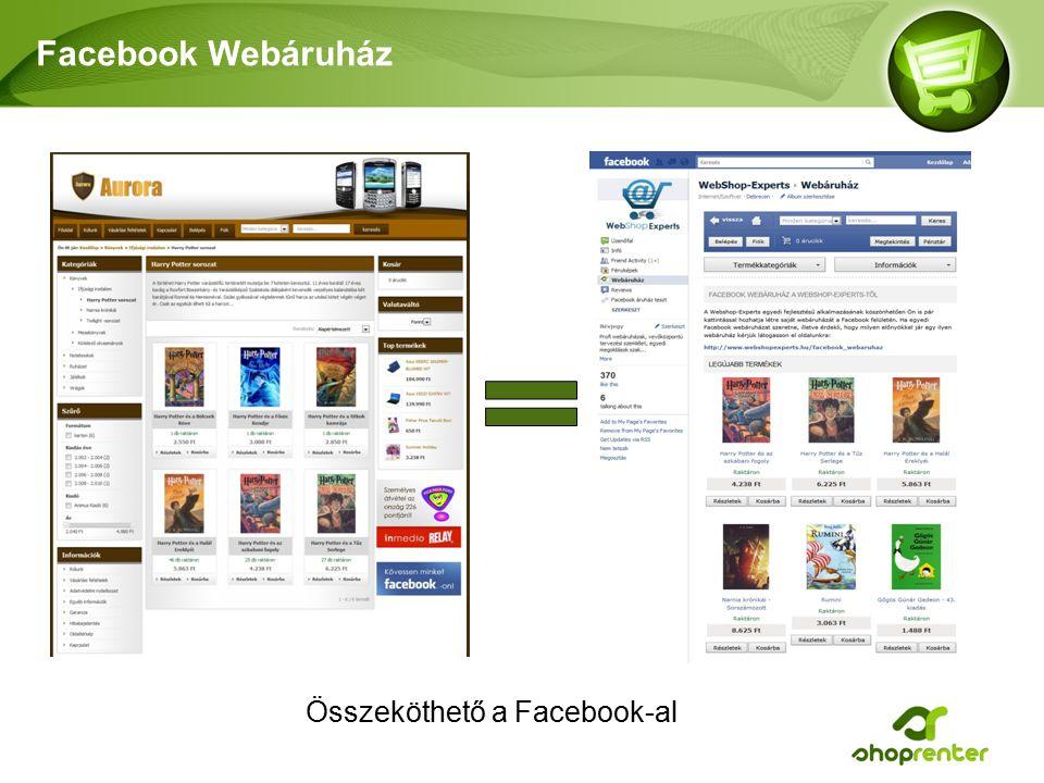 Facebook Webáruház Összeköthető a Facebook-al