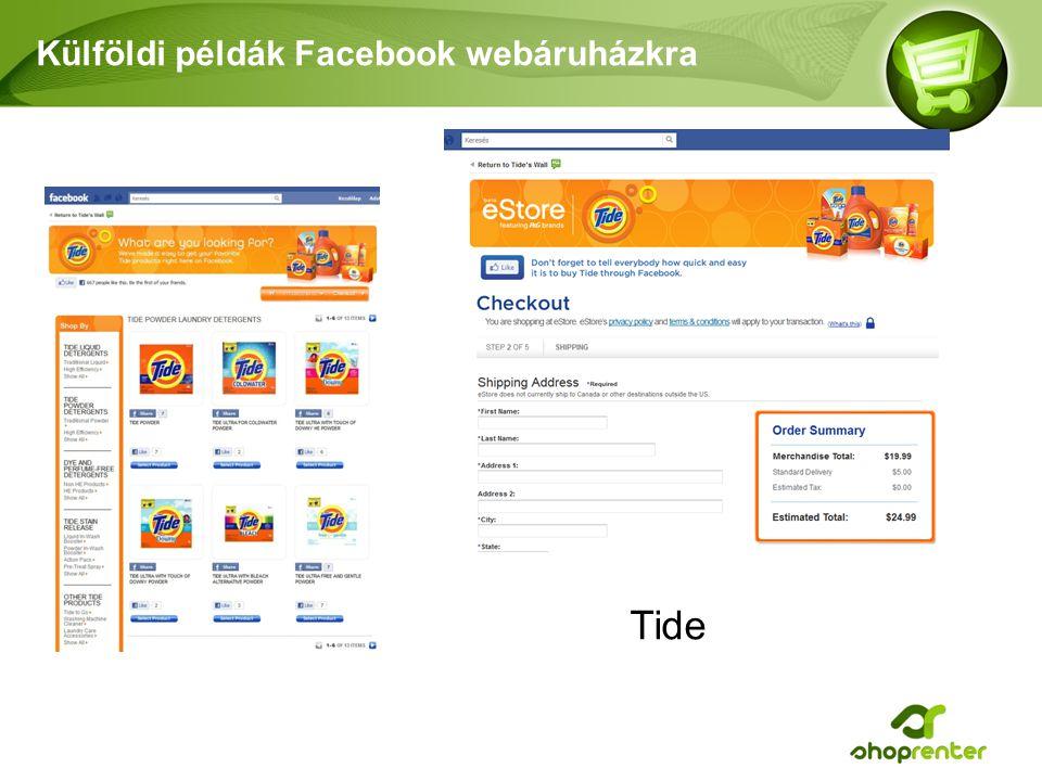 Külföldi példák Facebook webáruházkra Tide