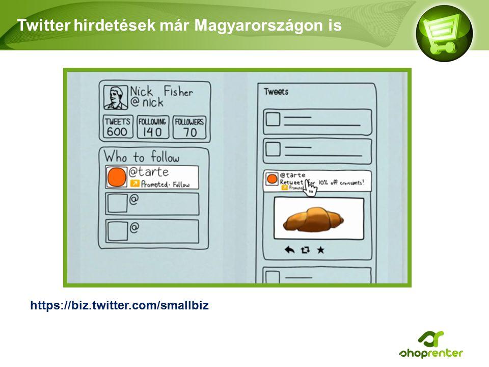 Twitter hirdetések már Magyarországon is https://biz.twitter.com/smallbiz