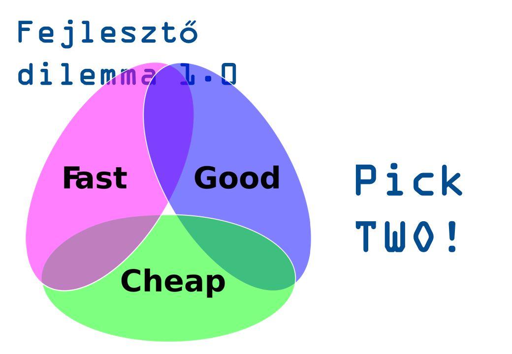 Fejlesztő dilemma 1.0 Pick TWO!