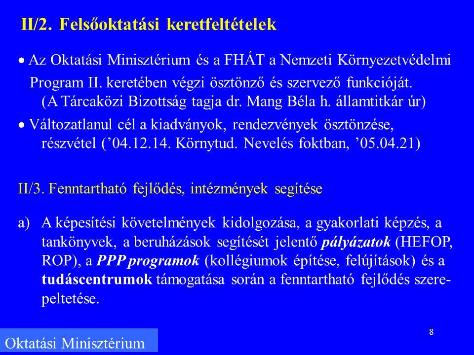 8 Oktatási Minisztérium II/2.