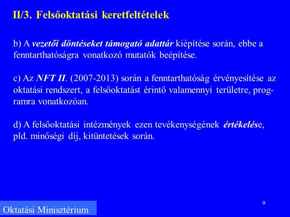 9 Oktatási Minisztérium II/3.