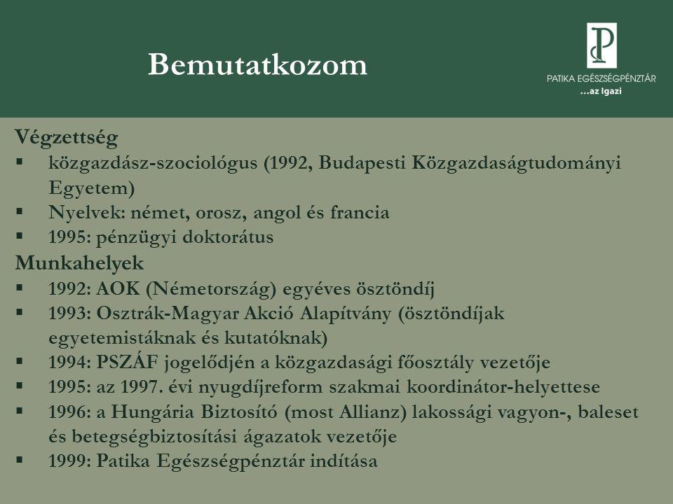 Végzettség  közgazdász-szociológus (1992, Budapesti Közgazdaságtudományi Egyetem)  Nyelvek: német, orosz, angol és francia  1995: pénzügyi doktorátus Munkahelyek  1992: AOK (Németország) egyéves ösztöndíj  1993: Osztrák-Magyar Akció Alapítvány (ösztöndíjak egyetemistáknak és kutatóknak)  1994: PSZÁF jogelődjén a közgazdasági főosztály vezetője  1995: az 1997.