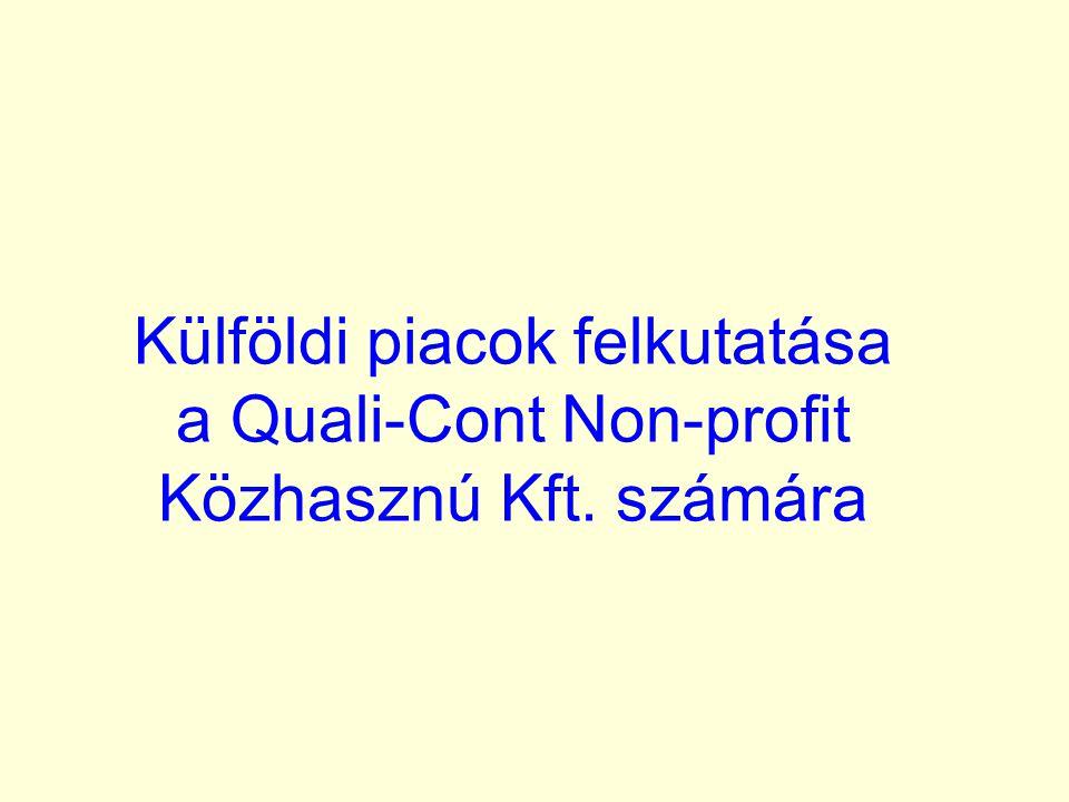 Külföldi piacok felkutatása a Quali-Cont Non-profit Közhasznú Kft. számára