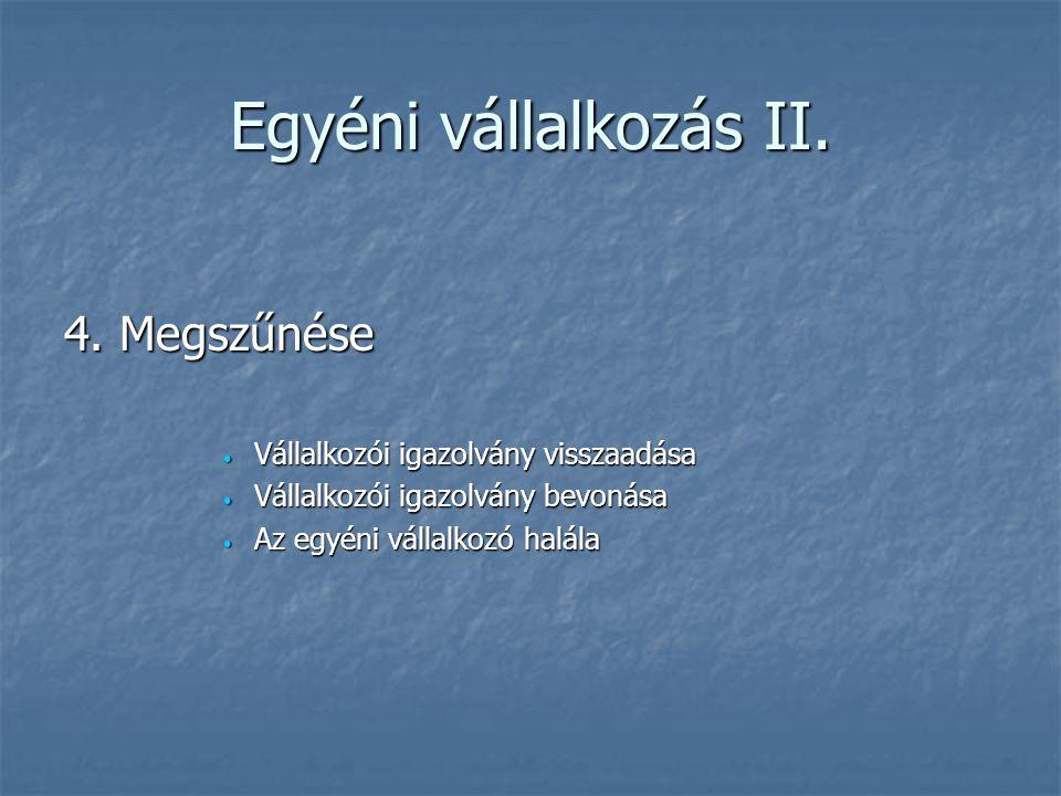 Részvénytársaság (rt) IV.3.
