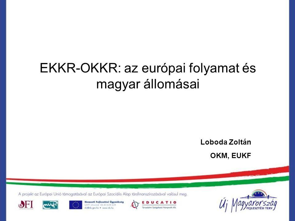 EKKR-OKKR: az európai folyamat és magyar állomásai Loboda Zoltán OKM, EUKF