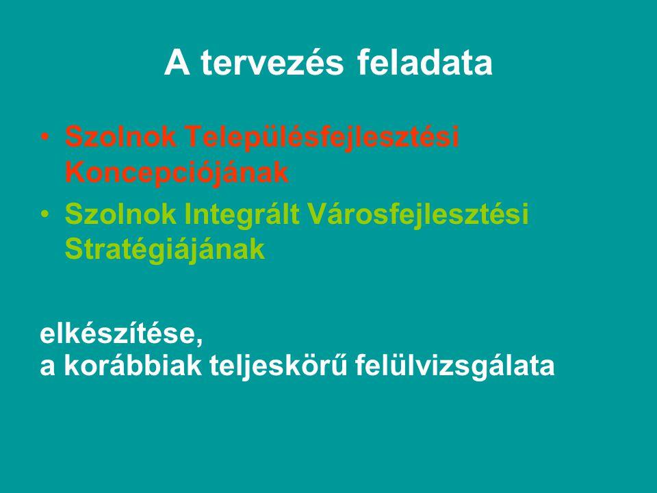 Szolnok Városfejlesztési Koncepciója (VK) hosszútávú és megalapozza Szolnok Település- rendezési Terveit (TRT) Szolnok Integrált városfejlesztési stratégiáját (IVS)
