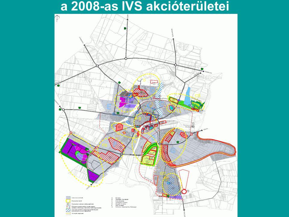 a 2008-as IVS akcióterületei