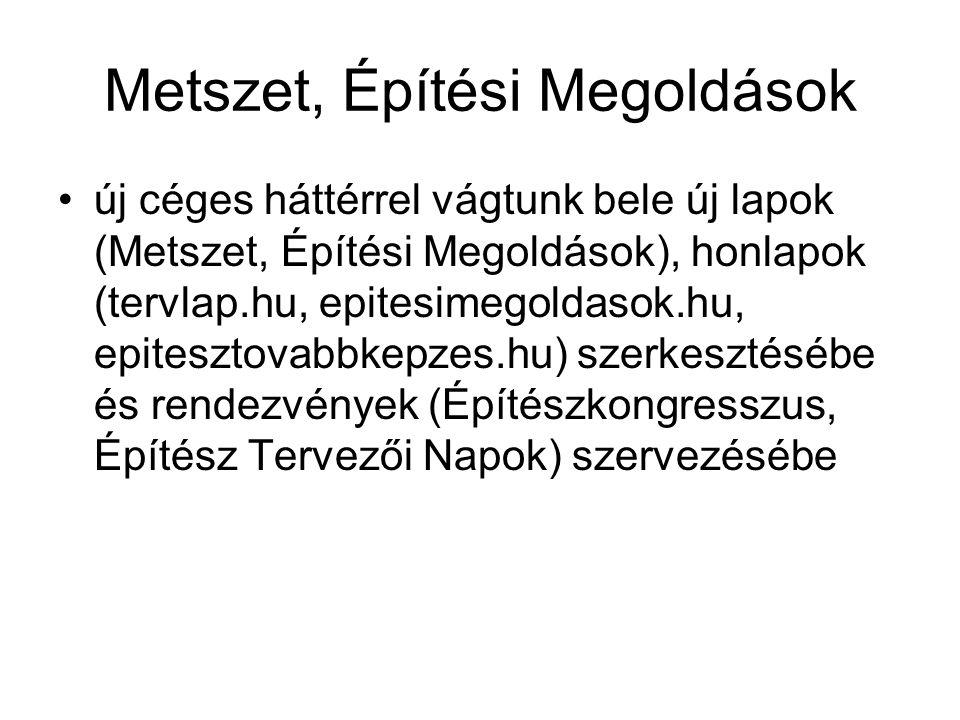 Metszet, Építési Megoldások új céges háttérrel vágtunk bele új lapok (Metszet, Építési Megoldások), honlapok (tervlap.hu, epitesimegoldasok.hu, epites