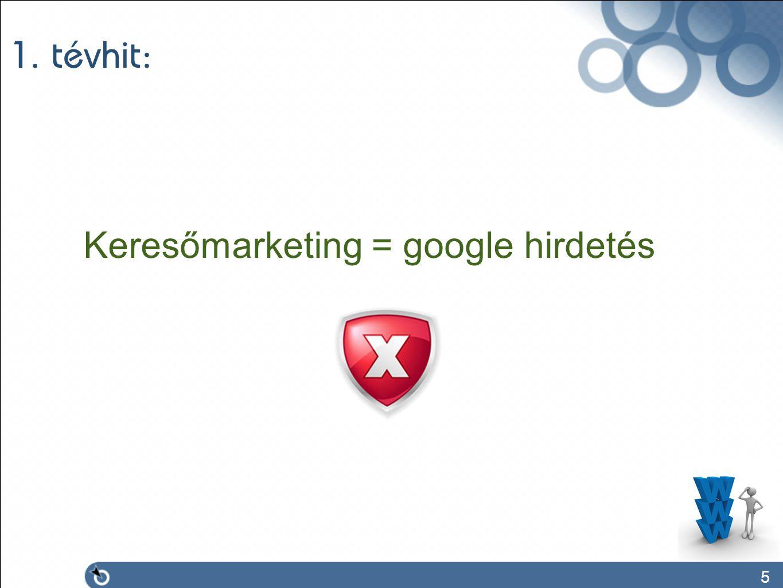 5 1. tévhit: Keresőmarketing = google hirdetés