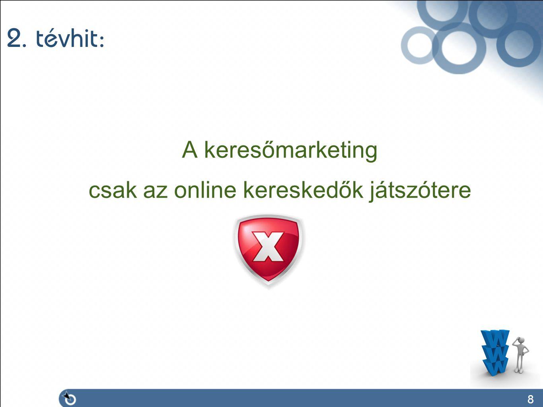 8 2. tévhit: A keresőmarketing csak az online kereskedők játszótere