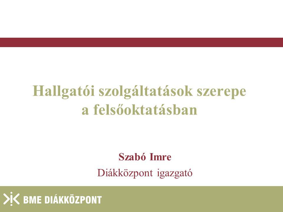 2004. január 27. Hallgatói szolgáltatások szerepe a felsőoktatásban Szabó Imre Diákközpont igazgató