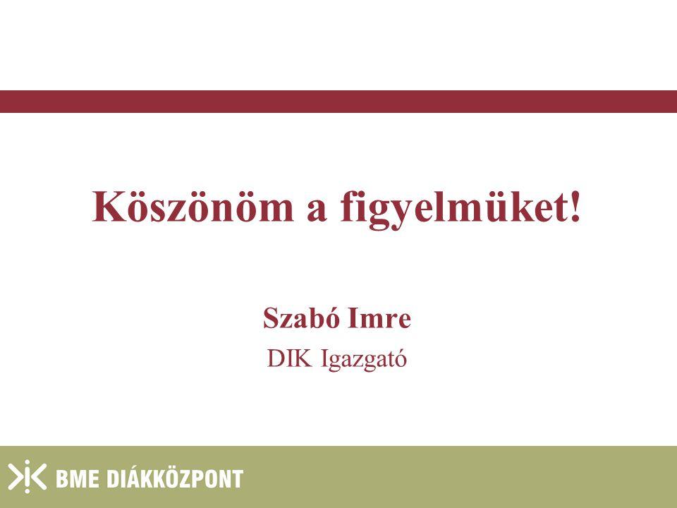 2004. január 27. Köszönöm a figyelmüket! Szabó Imre DIK Igazgató