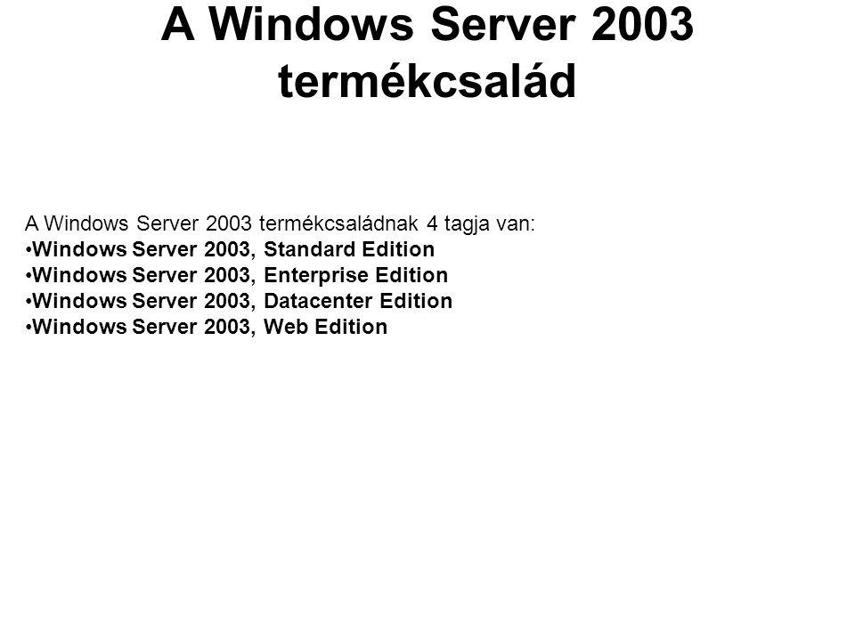A Windows Server 2003 Standard Edition Ez a megbízható kiszolgáló operációs rendszer képes kielégíteni bármilyen méretű vállalat mindennapi igényeit.