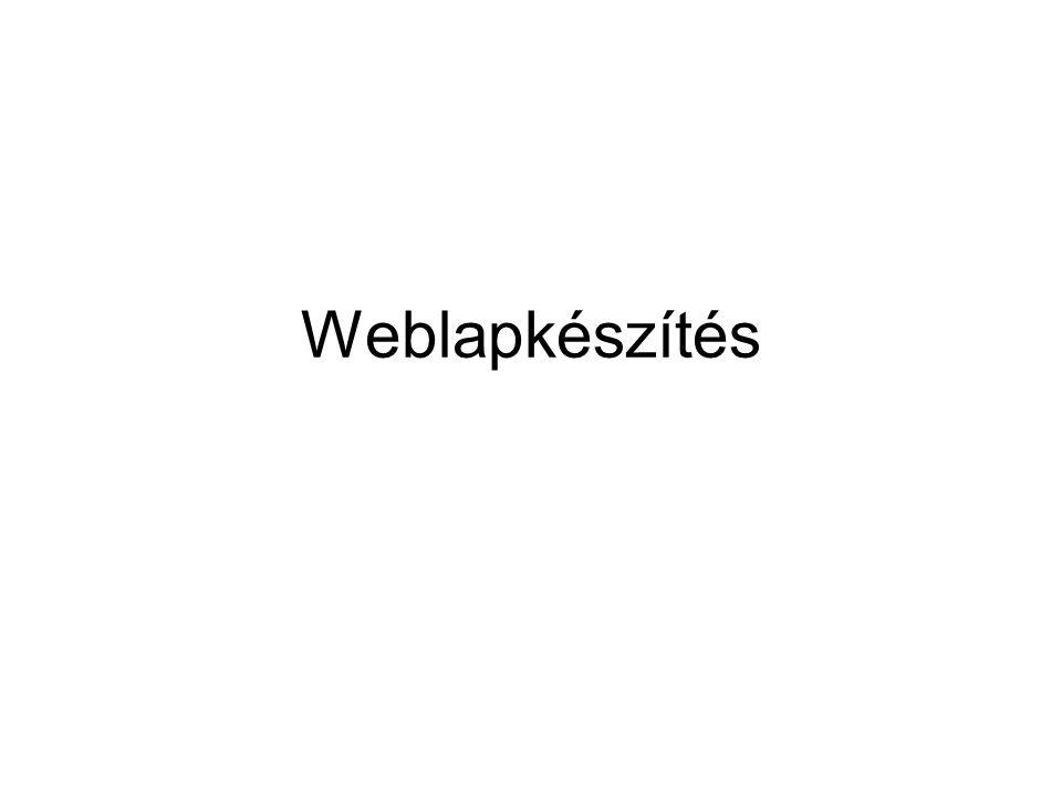 Weblapkészítés