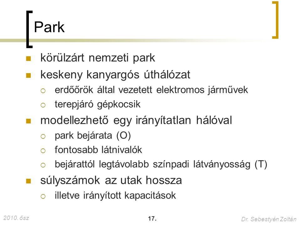 2010. ősz Dr. Sebestyén Zoltán 17. Park körülzárt nemzeti park keskeny kanyargós úthálózat  erdőőrök által vezetett elektromos járművek  terepjáró g