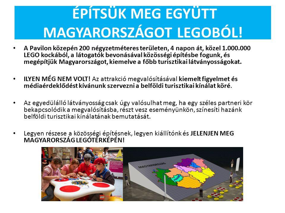 ÉPÍTSÜK MEG EGYÜTT MAGYARORSZÁGOT LEGOBÓL! A Pavilon közepén 200 négyzetméteres területen, 4 napon át, közel 1.000.000 LEGO kockából, a látogatók bevo