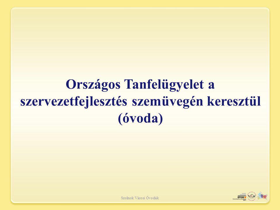 Szolnok Városi Óvodák Országos Tanfelügyelet a szervezetfejlesztés szemüvegén keresztül (óvoda)
