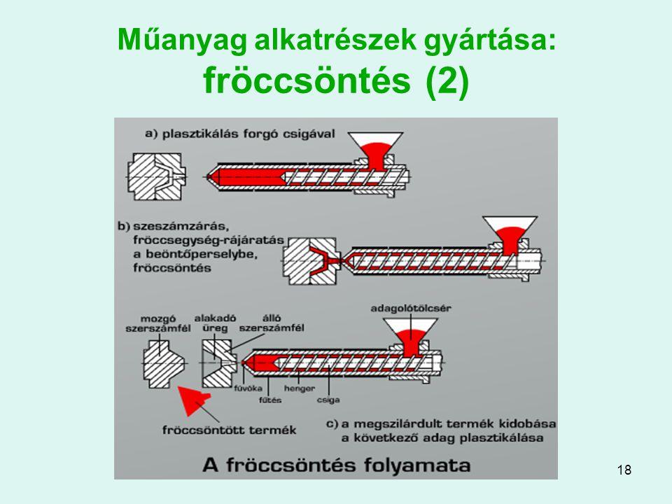 18 Műanyag alkatrészek gyártása: fröccsöntés (2)