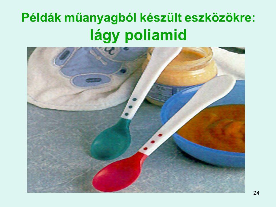 24 Példák műanyagból készült eszközökre: lágy poliamid