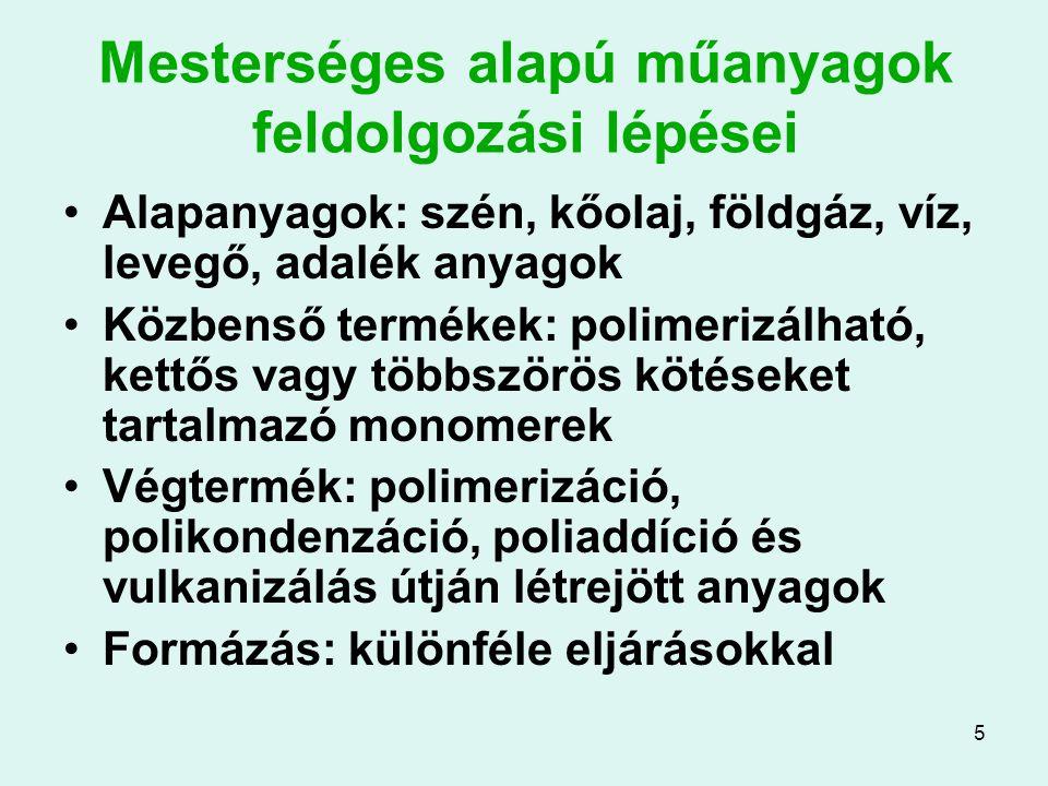 36 A kompozitok típusai Példák: Szemcsés: pl.beton (cement + kavics) Szálas: pl.