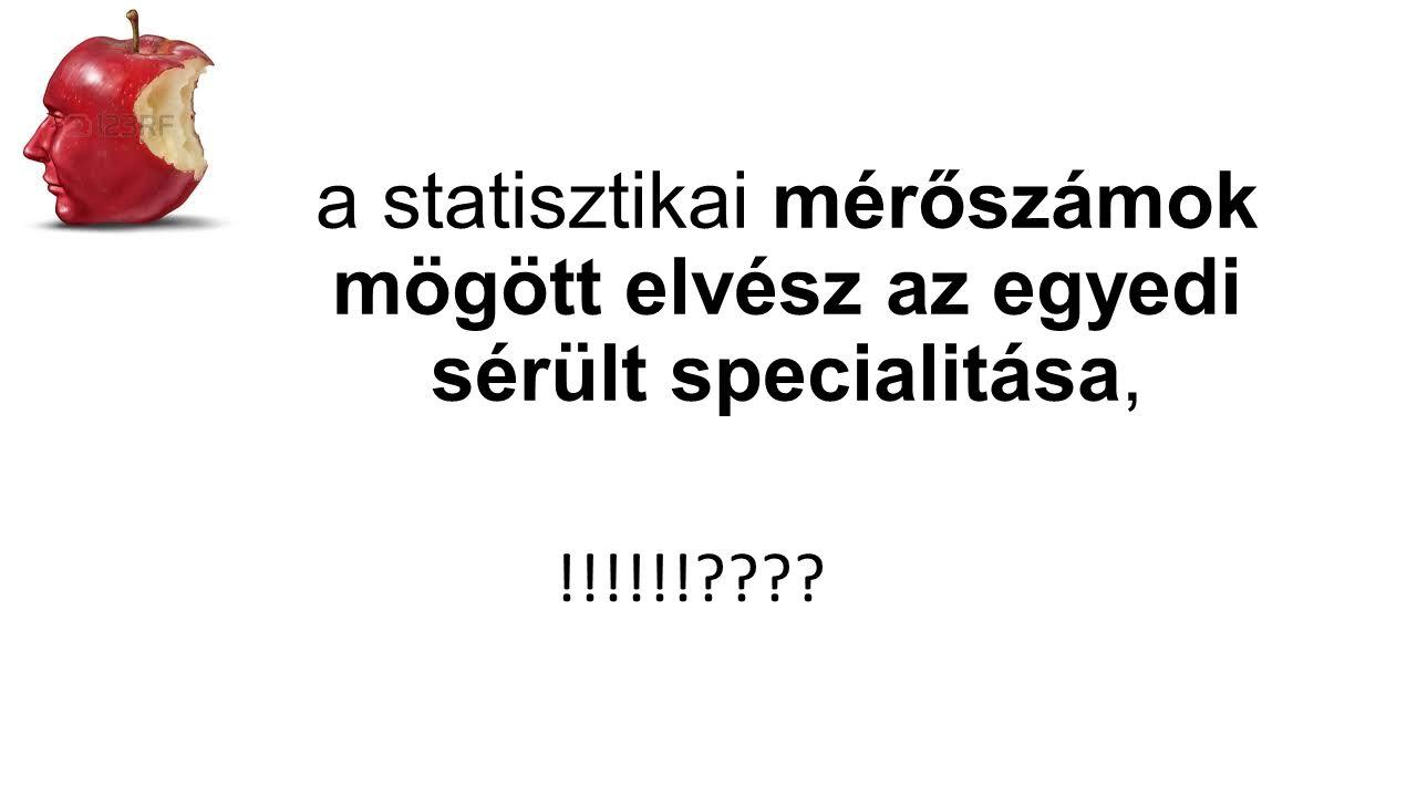 a statisztikai mérőszámok mögött elvész az egyedi sérült specialitása, !!!!!!????