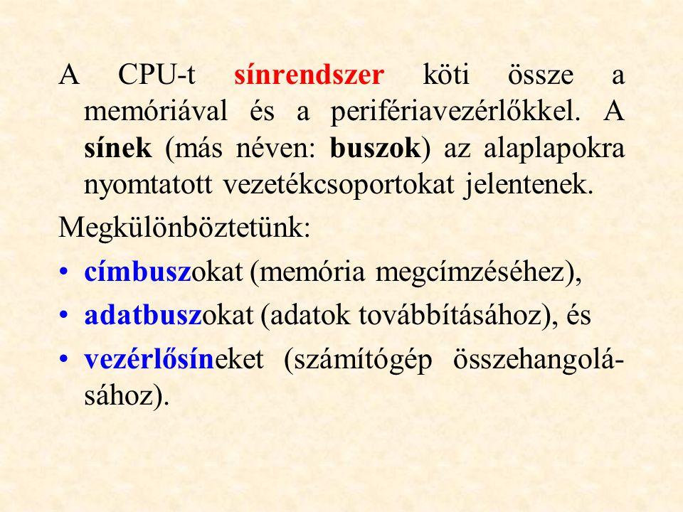 Be-kimeneti perifériák: Olyan egységek, amelyekről a számítógép olvasni képes (bemenet), és amelyekre írni is tud (kimenet).