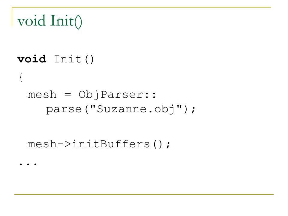 void Init() { mesh = ObjParser:: parse(