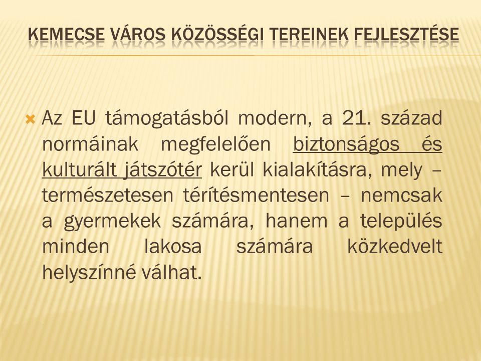  Az EU támogatásból modern, a 21.
