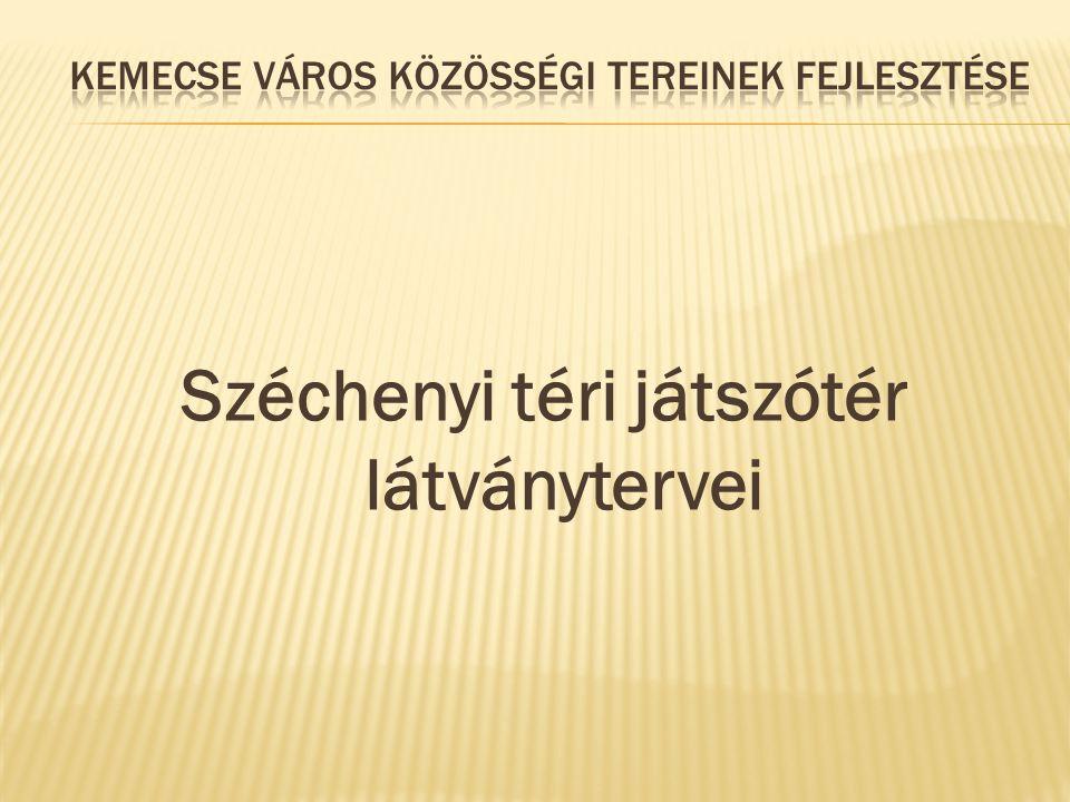 Széchenyi téri játszótér látványtervei