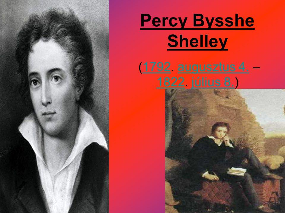 Élete  Percy Bysshe Shelley 1792-ben született az angliai Horsham-ban.Horsham  Szülei, Elizabeth Pilfold és Timothy Shelley hét gyereket neveltek.
