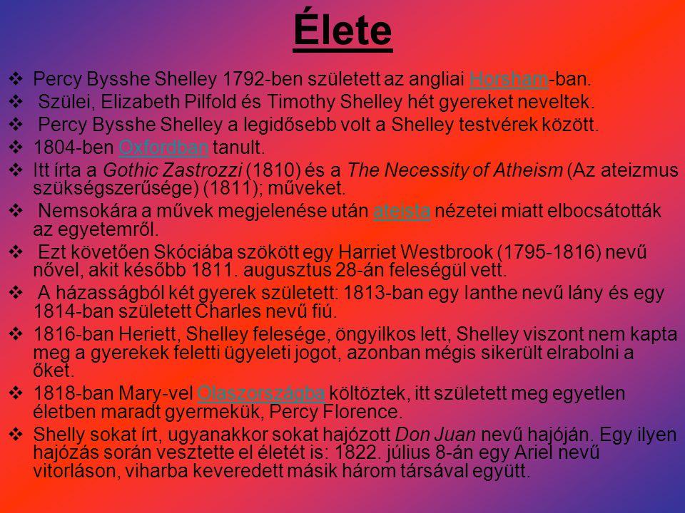  A költői fő műnek szánt, valóban nagy alkotás, a Prométheusz-dráma is csak az irodalmi ínyencek olvasmánya volt és maradt.