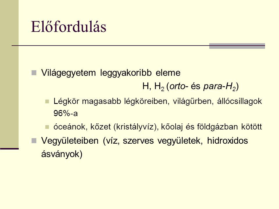 Antropogén felhasználás He Léggömb töltése; kis hőmérsékletek előállítása; Hűtőgáz (atomreaktorokban); mesterséges levegő (búvárok: He+O 2 ); világítástechnika; radioaktív kormeghatározás Ne fénycsövek töltése (n.s.) Ar fénycsövek töltése (k.); védőgáz (hegesztésénél; egyes fémek előállításánál; kém.-i reakcióknál) Kr izzólámpák töltése (E takarékos izzók) (1936.