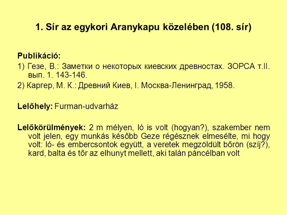 1.Sír az egykori Aranykapu közelében (108.