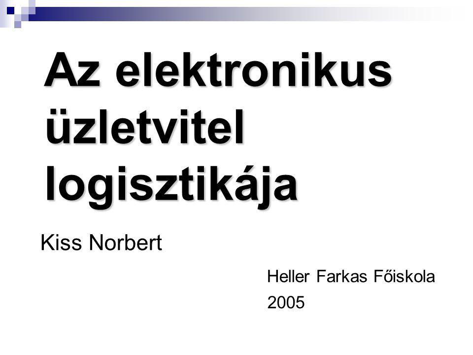 Az elektronikus üzletvitel logisztikája Kiss Norbert Heller Farkas Főiskola 2005