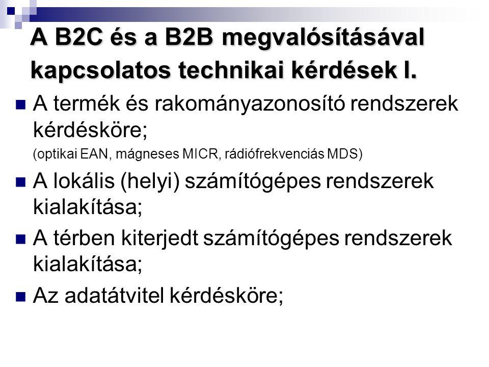 A B2C és a B2B megvalósításával kapcsolatos technikai kérdések I.
