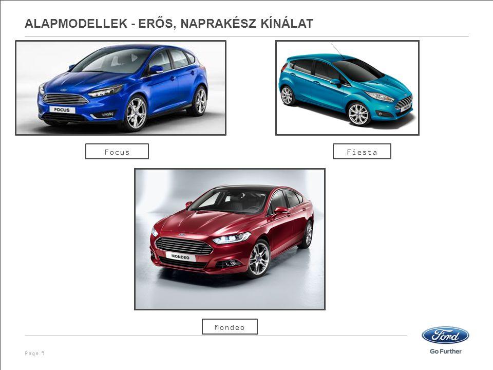 ALAPMODELLEK - ERŐS, NAPRAKÉSZ KÍNÁLAT Page 9 Focus Mondeo Fiesta