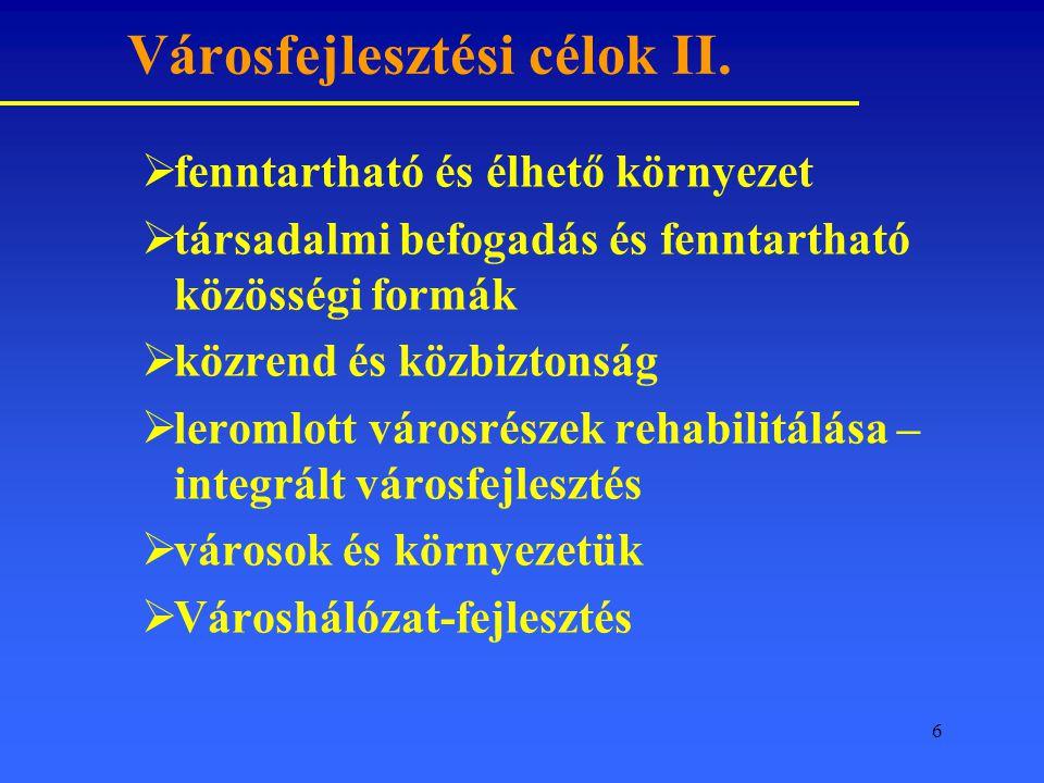 6 Városfejlesztési célok II.